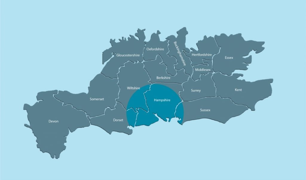Teeth whitening in West Sussex map - diamante's coverage
